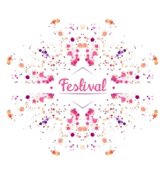Festival background vector image vector image