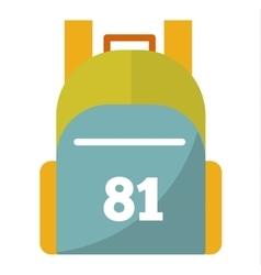 Flat sport backpack vector