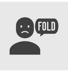 Fold icon vector image vector image