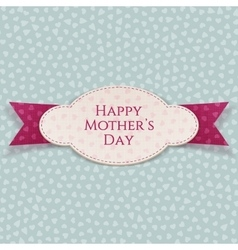 Happy mothers day realistic card template vector