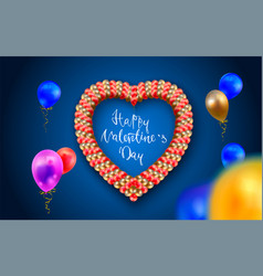 happy valentine s day realistic colorful of vector image