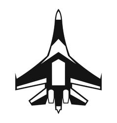 Jet fighter plane icon simple style vector