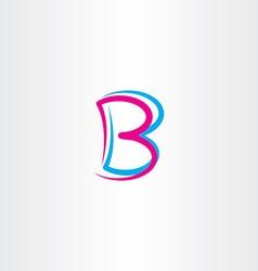 Letter b cyan magenta icon symbol vector