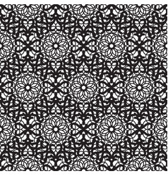 mandala lace dense black seamless pattern vector image vector image