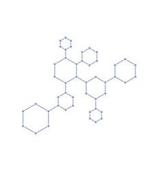 molecular circuit on white vector image