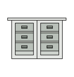 Office file cabinet vector