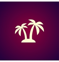palm icon Eps 10 vector image vector image