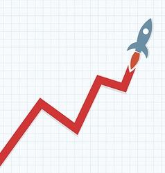Profit Rocket vector image vector image