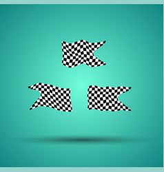 Racing background set collection of 3 checkered vector