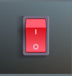 Red Switch vector image vector image