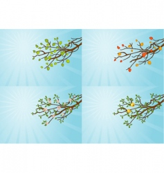 season tree vector image vector image