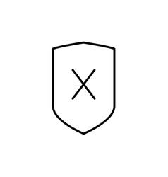 security error icon vector image