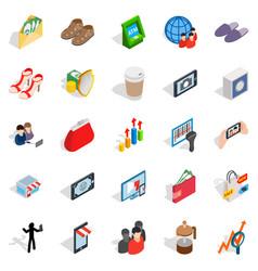 Shopping icons set isometric style vector