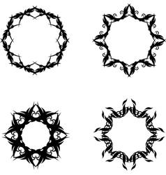 Star frames vector