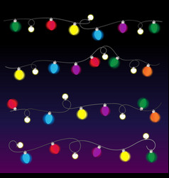 string of christmas lights vector image vector image