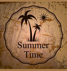 Summer holidays logo vector