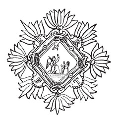 The religious order of the heavenly annunciation vector