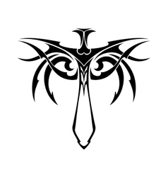 Tribal sword vector image vector image