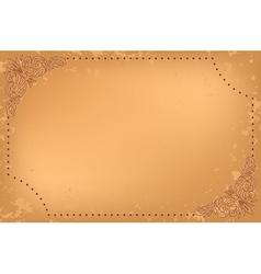 vintage beige card with floral decoration vector image