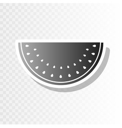 Watermelon sign new year blackish icon on vector