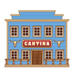 Wild West cantina vector image
