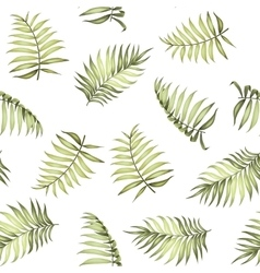 Topical palm leaves pattern vector