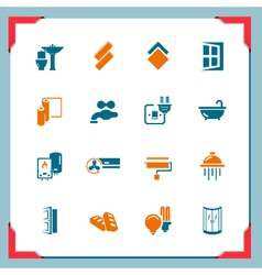 Home renovation icons in a frame series vector
