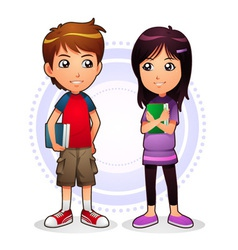 Boy and girl vector