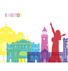 kingston skyline pop vector image