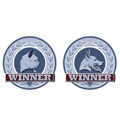 Cat and dog pet awards vector