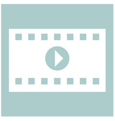 A frame from a movie the white color icon vector