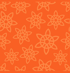 oriental ornament on orange background vector image