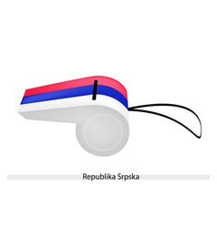 A whistle of the republika srpska flag vector