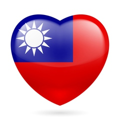 Heart icon of taiwan vector