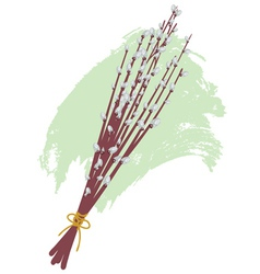 Willow branches2 vector