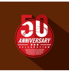 50 years anniversary celebration design vector