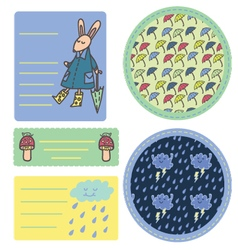 Rain sticker set vector