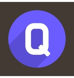 Letter q logo flat icon style vector