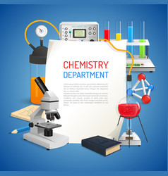 Science realistic background vector