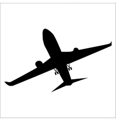 Planes black silhouette vector image