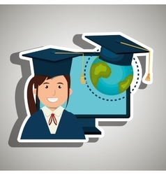 student graduation isolated icon design vector image