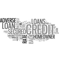Adverse credit secured homeowner loans text word vector