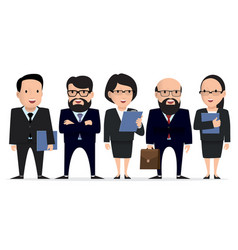Business team - group businessman character vector