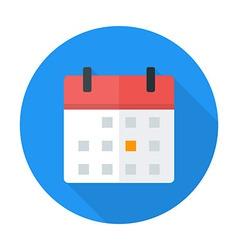 Calendar flat circle icon vector