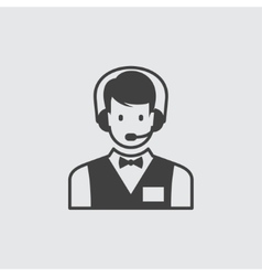 Call centre icon vector