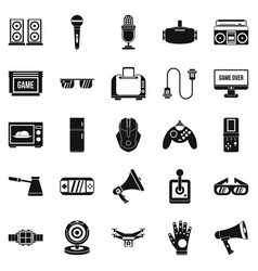 camcorder icons set simple style vector image