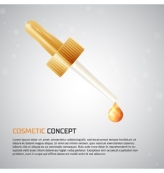 Cosmetic concept icon vector image