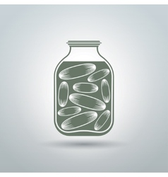 Cucumber jar vector