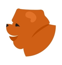 Dog head chow vector