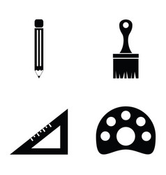 drawing and painting icons set vector image